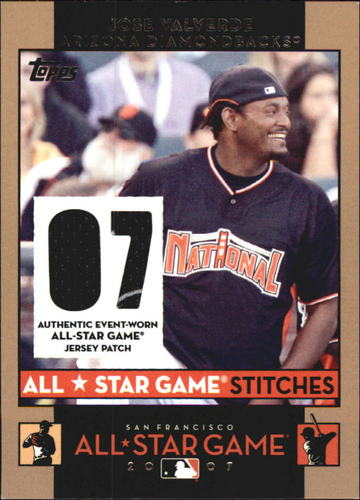 Photo of 2007 Topps Update All-Star Stitches #JRV Jose Valverde