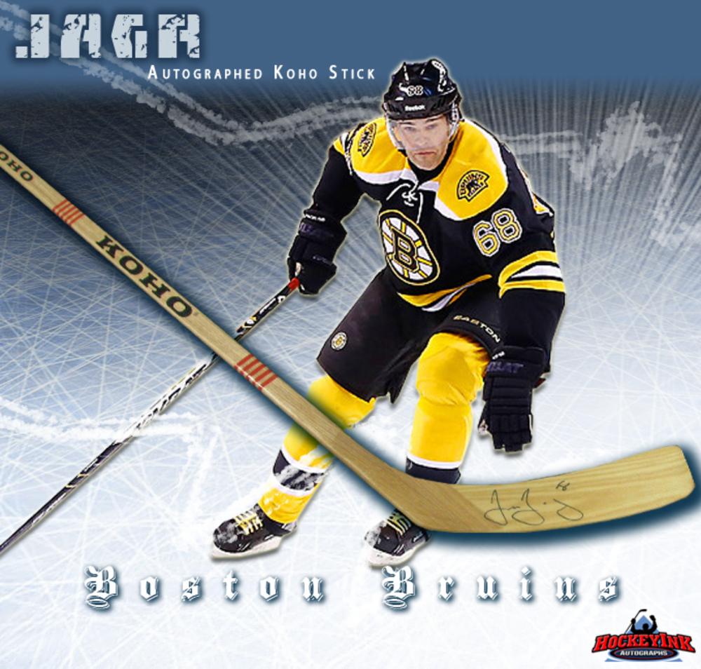 JAROMIR JAGR Signed Koho Stick - Boston Bruins