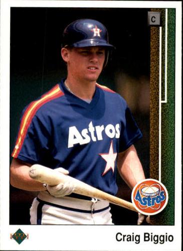 Photo of 1989 Upper Deck #273 Craig Biggio -- Houston Astros rookie card