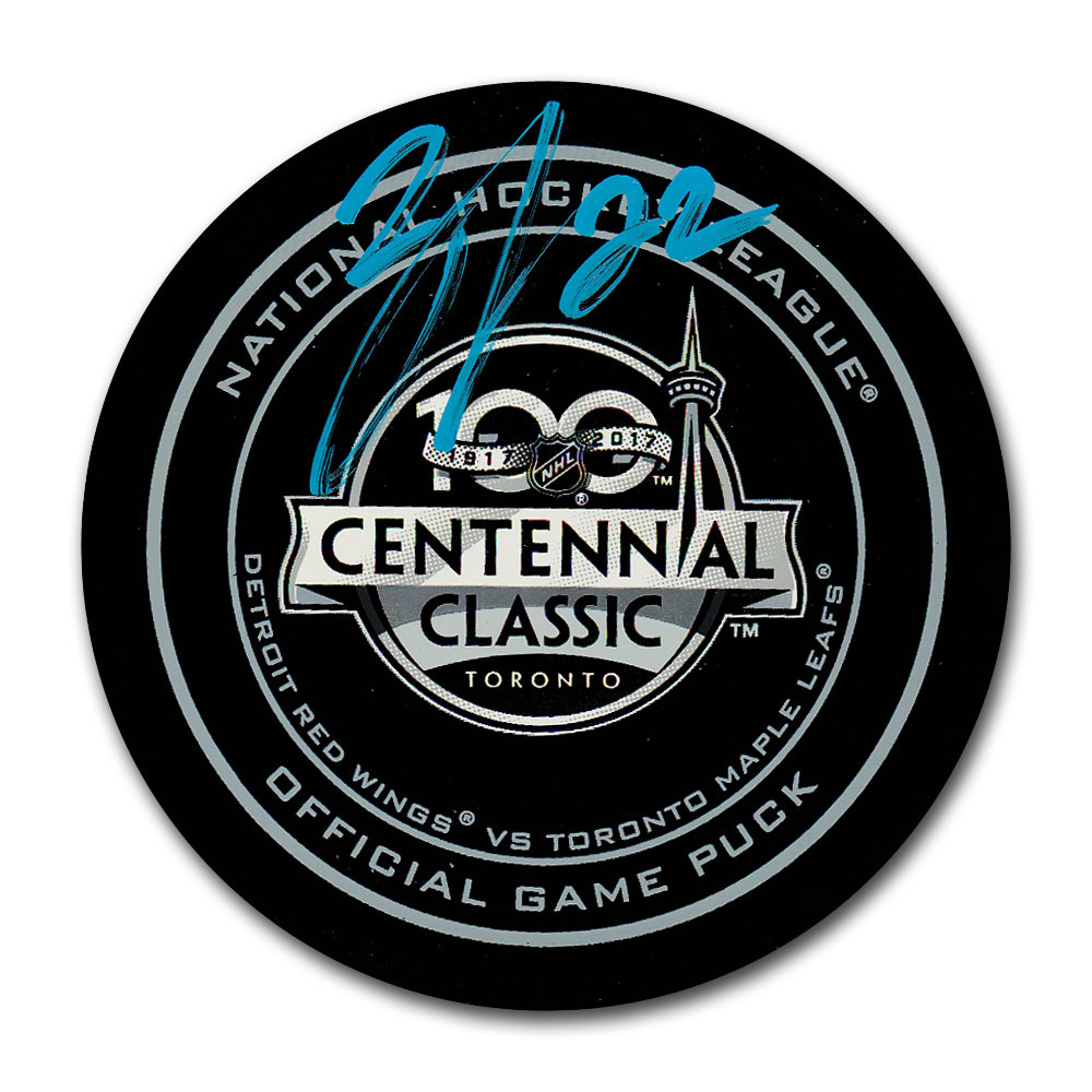 Nikita Zaitsev Autographed 2017 NHL Centennial Classic Official Game Puck
