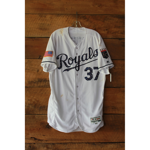 Photo of Brandon Moss Game-Used Jersey (7/1/17 MIN at KC) (Size 46)