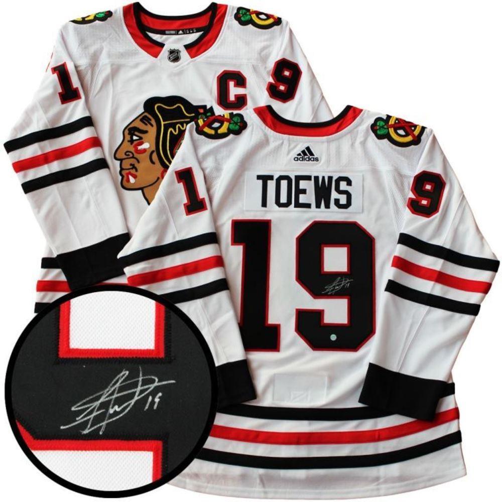 Jonathan Toews - Signed Jersey Blackhawks Adidas Pro White 17-18