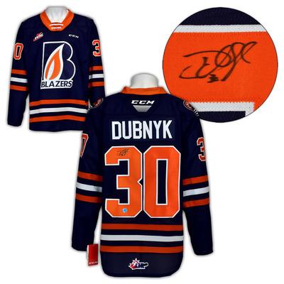 Devan Dubnyk Kamloops Blazers Autographed CHL CCM Replica Hockey Jersey