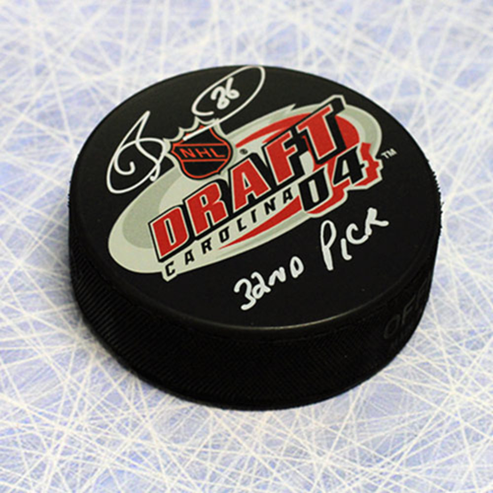Dave Bolland 2004 NHL Draft Day Autographed Puck with 32nd Pick Note