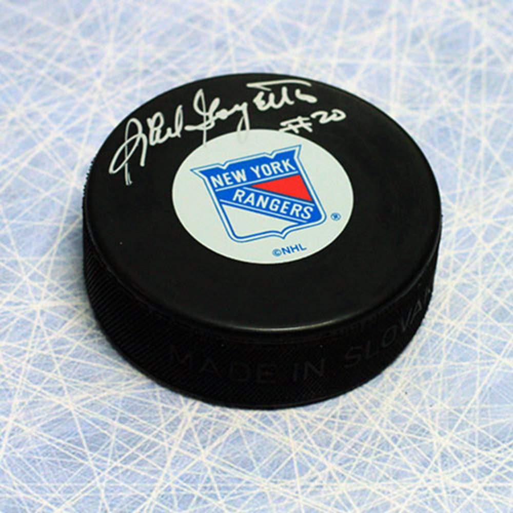 Phil Goyette New York Rangers Autographed Hockey Puck