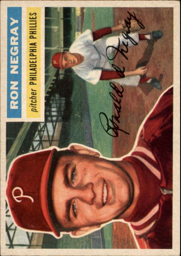 Photo of 1956 Topps #7A Ron Negray GB RC
