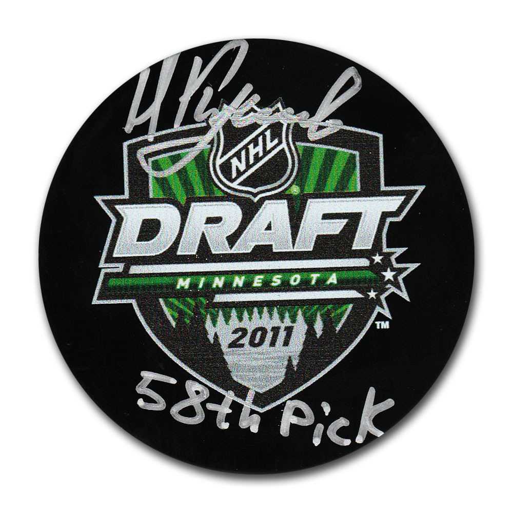 Nikita Kucherov Autographed 2011 NHL Entry Draft Puck w/58TH PICK Inscription
