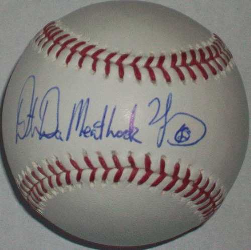 "Photo of Dmitri Young ""Da Meat Hook"" Autographed Baseball"