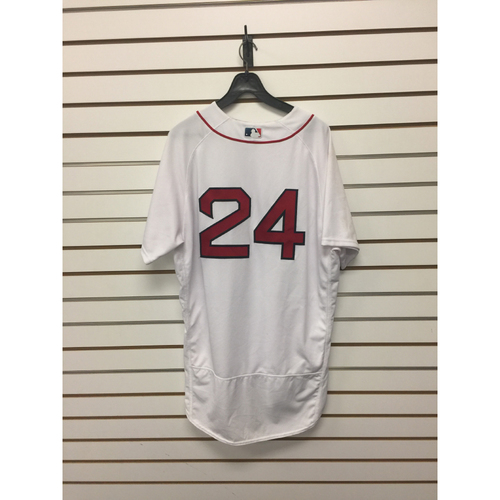 Photo of David Price Game-Used June 13, 2017 Home Jersey