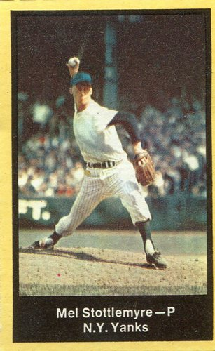 Photo of 1969 Nabisco Team Flakes #24 Mel Stottlemyre S3