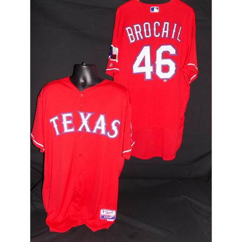 Photo of Doug Brocail Game-Used 2017 Opening Day Jersey - Size 54