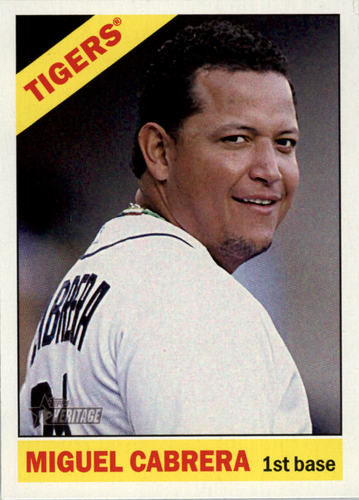 Photo of 2015 Topps Heritage #475A Miguel Cabrera SP