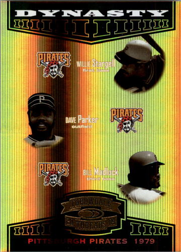 Photo of 2004 Throwback Threads Dynasty Spectrum #10 Willie Stargell/Dave Parker/Bill Madlock #d/100 Pittsbur