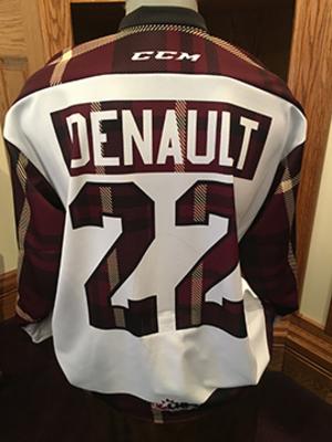 Chad Denault (#22) - Game-Worn #PetesPlaidNight Jersey