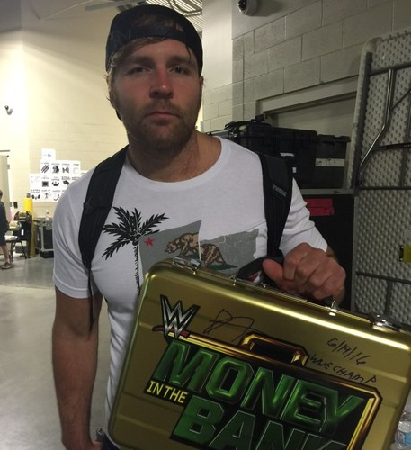 Photo of Dean Ambrose SIGNED Money In The Bank Replica Briefcase (Money In The Bank - 06/19/16)
