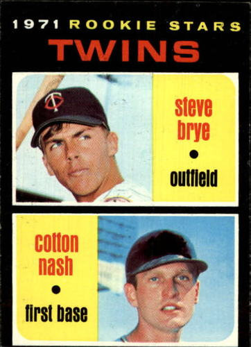 Photo of 1971 Topps #391 Rookie Stars/Steve Brye RC/Cotton Nash RC