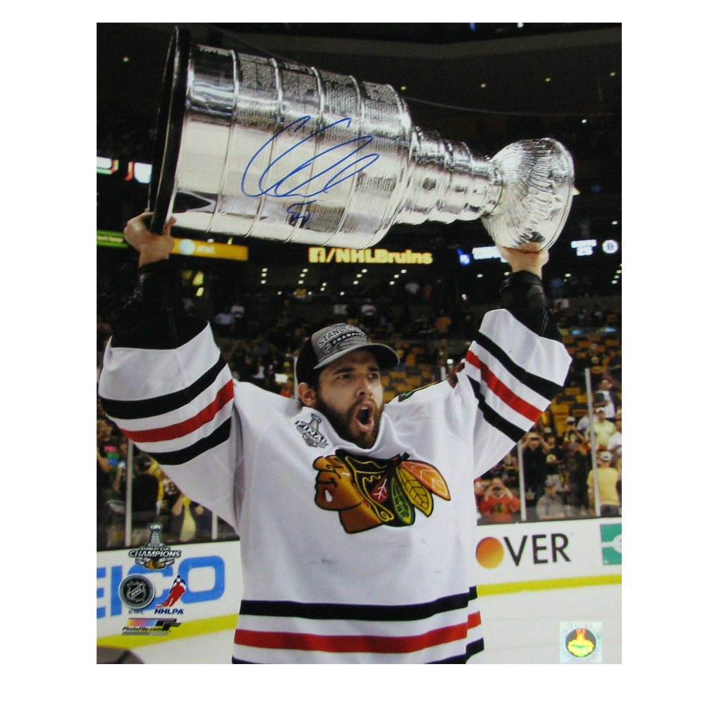 COREY CRAWFORD Signed Chicago Blackhawks Stanley Cup 2013 16 X 20 Photo - 79042