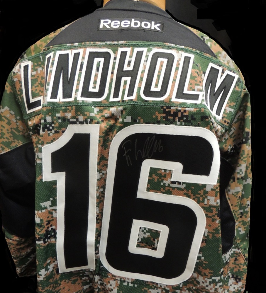 Carolina Hurricanes Elias Lindholm #16 Military Appreciation Jersey