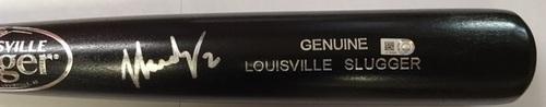 Photo of JJ Hardy Autographed Black Louisville Slugger Bat