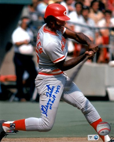 "Photo of George Foster ""NL MVP 1977"" Autographed 8x10"