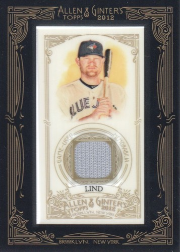Photo of 2012 Topps Allen and Ginter Relics #AL Adam Lind -- Nationals post-season