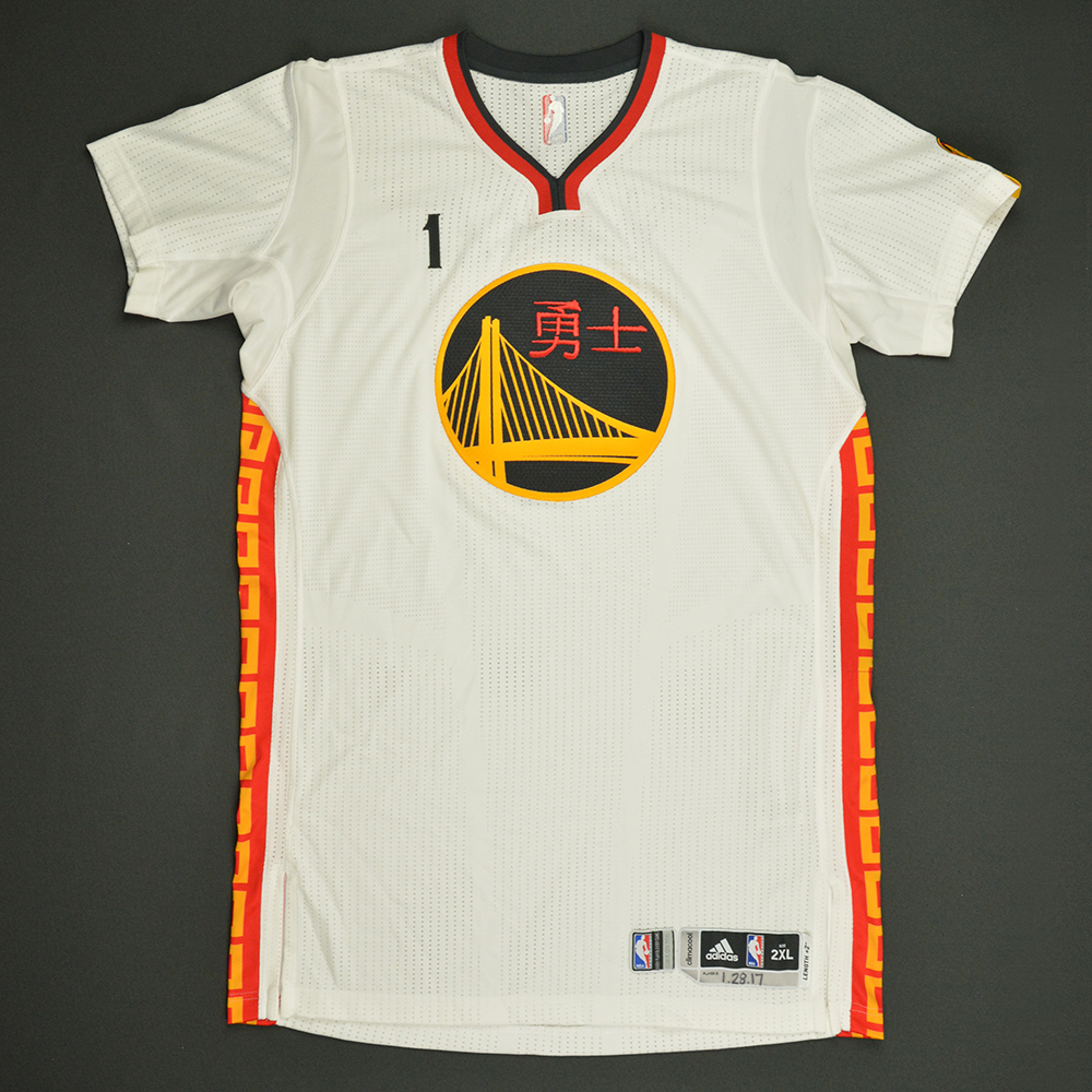 JaVale McGee - Golden State Warriors - Game-Worn Chinese New Year Jersey - 2016-17 Season