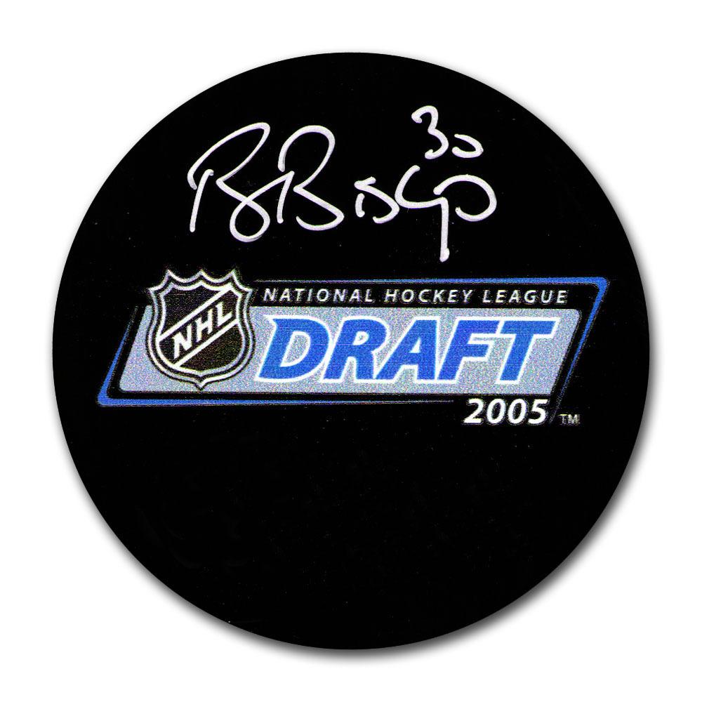 Ben Bishop Autographed 2005 NHL Entry Draft Puck