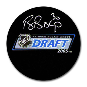 Ben Bishop Autographed 2005 NHL Entry Draft Puck w/85TH PICK Inscription (Tampa Bay Lightning)