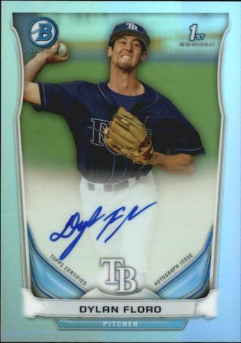 Photo of 2014 Bowman Chrome Prospect Autographs Refractors #BCAPDF Dylan Floro