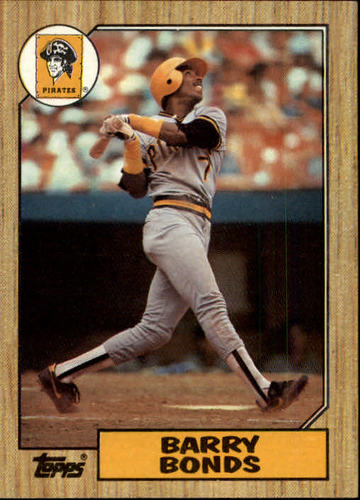 Photo of 1987 Topps #320 Barry Bonds -- Pittsburgh Pirates rookie card
