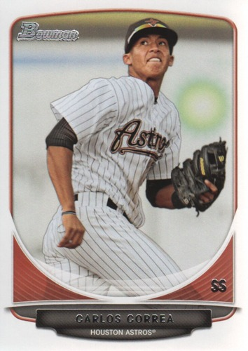 Photo of 2013 Bowman Prospects #BP100 Carlos Correa Pre-rookie Card