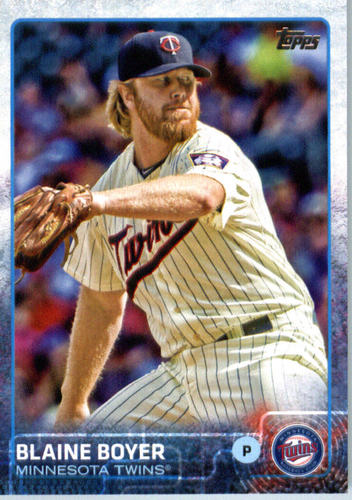 Photo of 2015 Topps Update #US345 Blaine Boyer -- Red Sox post-season