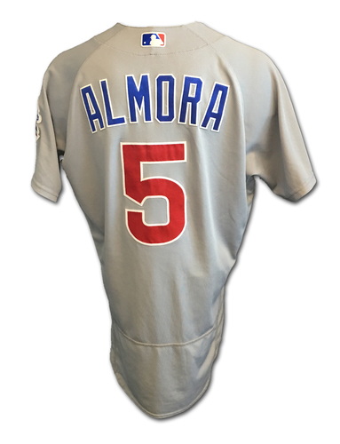Albert Almora Game-Used Jersey -- Cubs Clinch 2017 NL Central Division -- Cubs at Cardinals -- 9/27/17