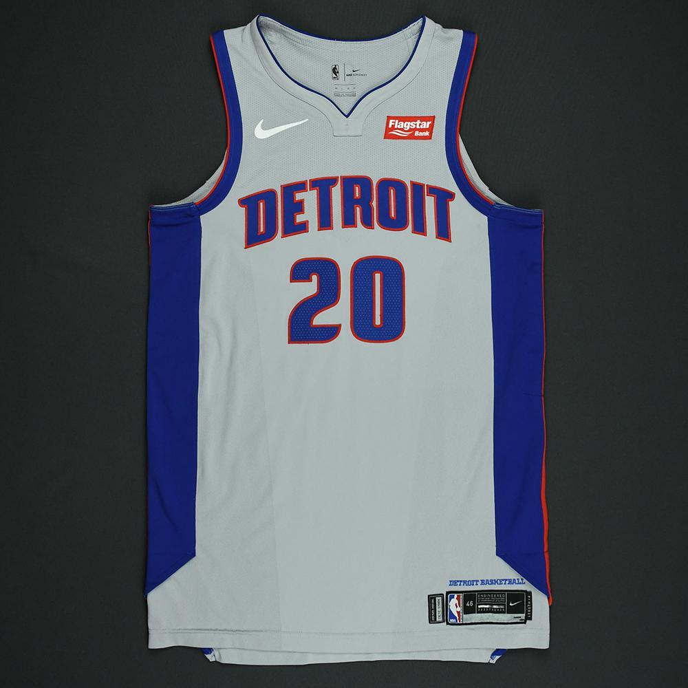 Dwight Buycks - Detroit Pistons - Statement Game-Worn Jersey  - 2017-18 Season - Dressed, Did Not Play