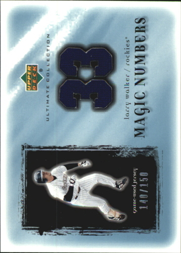 Photo of 2001 Ultimate Collection Magic Numbers Game Jersey #MNLW Larry Walker