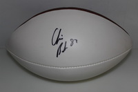 PATRIOTS - CHRIS BAKER SIGNED PANEL BALL