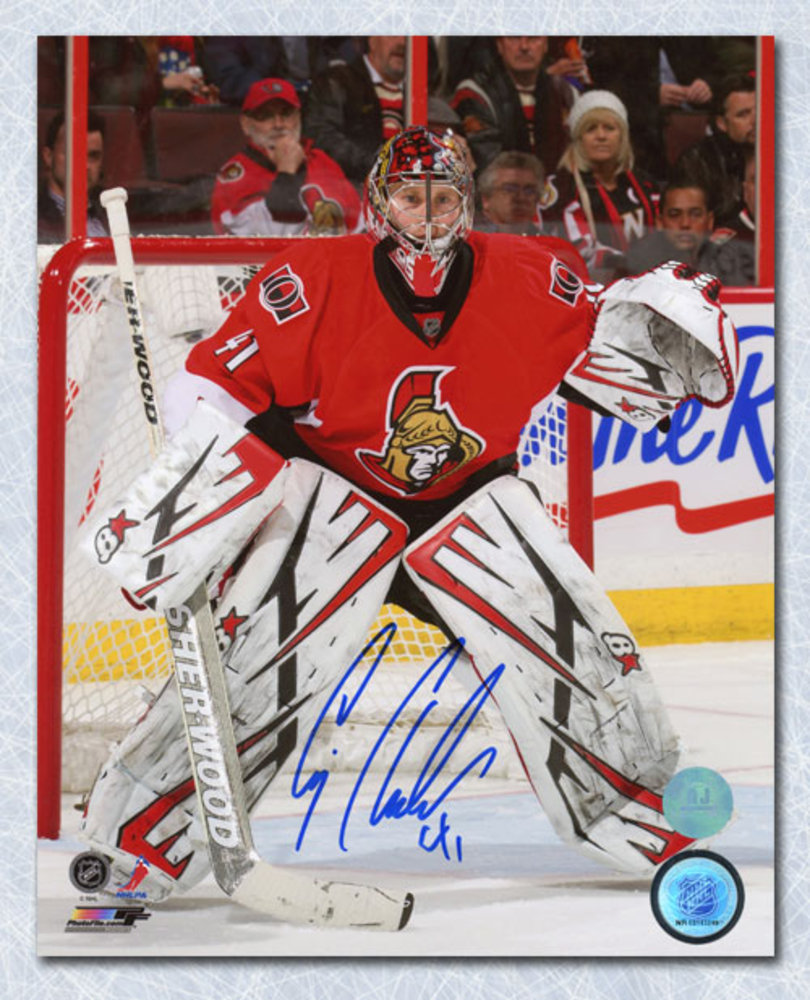 Craig Anderson Ottawa Senators Autographed Game Action 8x10 Photo