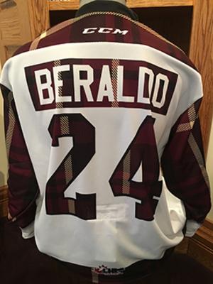 Adrien Beraldo (#24) - Game-Worn #PetesPlaidNight Jersey