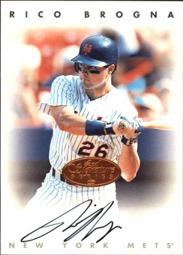 Photo of 1996 Leaf Signature Autographs #35 Rico Brogna