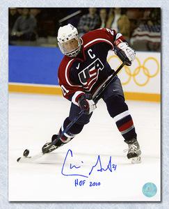 Cammi Granato Team USA Autographed Olympic Hockey Action 8x10 Photo
