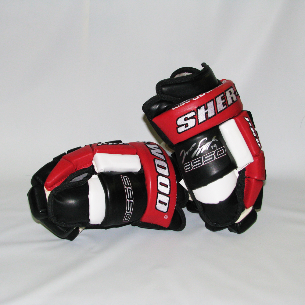 JASON SPEZZA Signed Ottawa Senators Sher-Wood Model Gloves