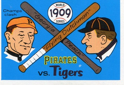 Photo of 1970 Fleer Laughlin World Series Blue Backs #6 1909 Pirates/Tigers/(Honus Wagner/and Ty Cobb)