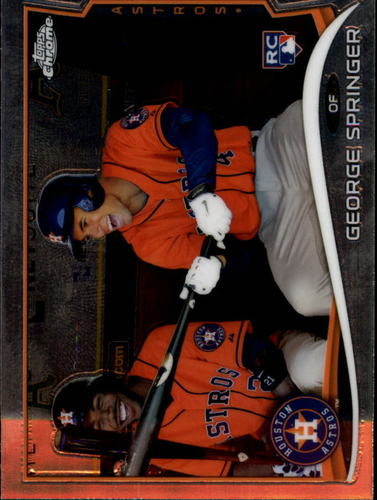Photo of 2014 Topps Chrome #138 George Springer Rookie Card -- Astros post-season