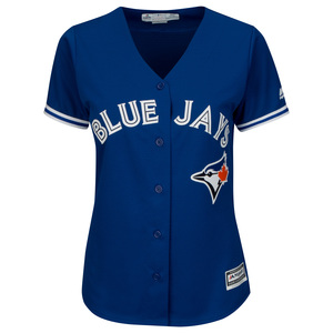 Toronto Blue Jays Women's Plus Size Cool Base Replica Alternate Jersey by Majestic