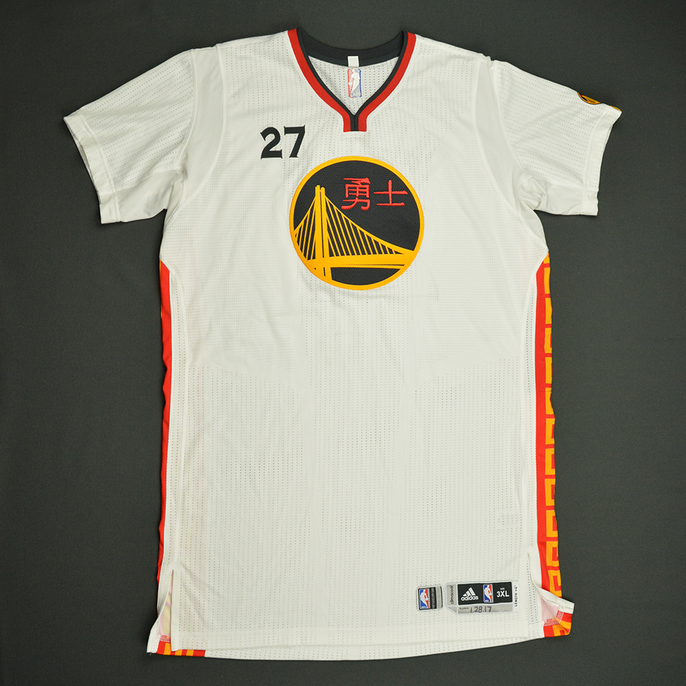 Zaza Pachulia - Golden State Warriors - Game-Worn Chinese New Year (2nd Half Only) Jersey - 2016-17 Season