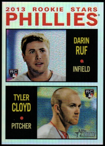 Photo of 2013 Topps Heritage Chrome Refractors #HC98 Darin Ruf/Tyler Cloyd