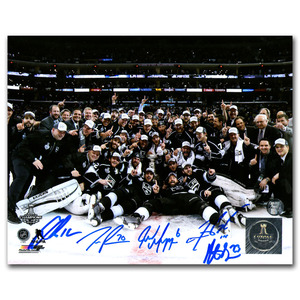 2014 Stanley Cup Champion Los Angeles Kings Autographed 8X10 Photo  - Gaborik, Williams, Brown, Muzzin, Pearson