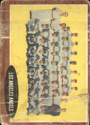 Photo of 1962 Topps #132A Los Angeles Angels TC/No Inset Photos