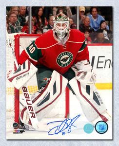 Devan Dubnyk Minnesota Wild Autographed Hockey Goalie 8x10 Photo