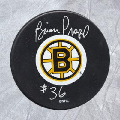 BRIAN PROPP Boston Bruins Autographed Hockey Puck